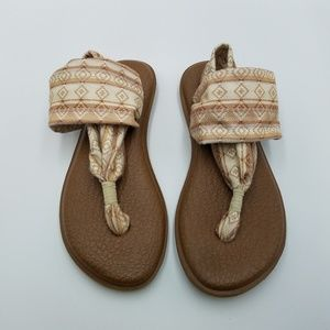 Sanuk Yoga Sling 2 Cream Tribal Print Sandals